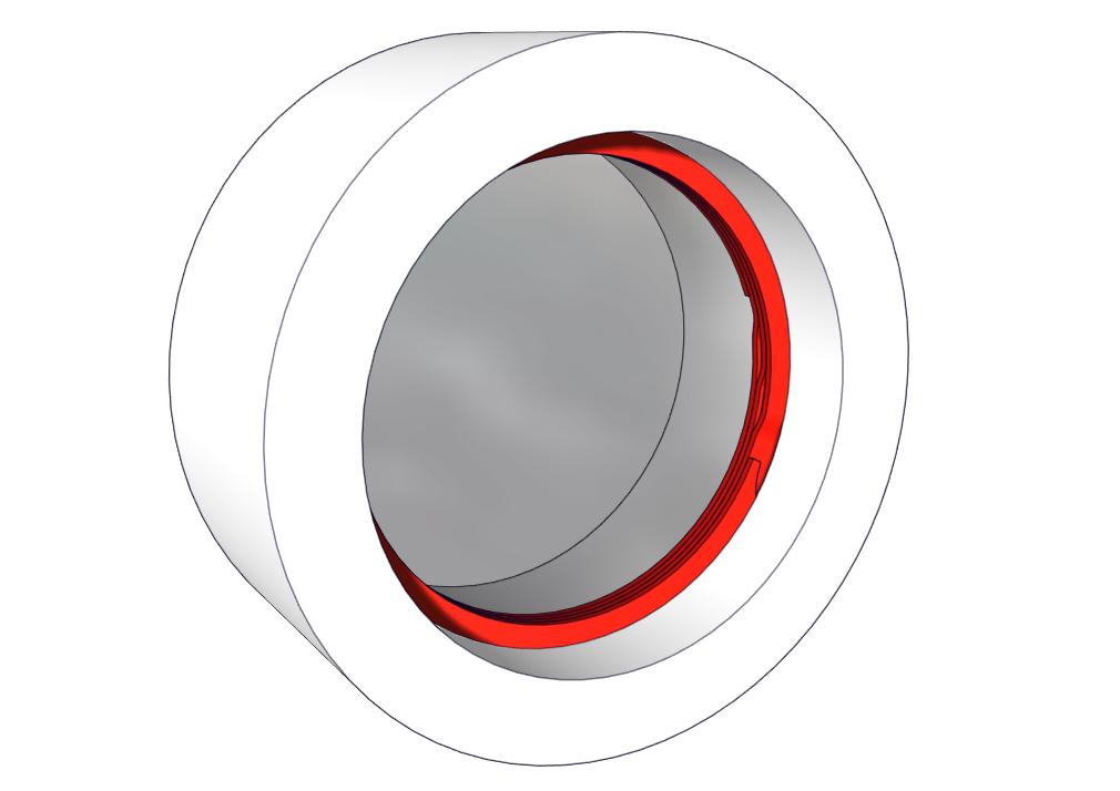 Internal retaining ring for bore